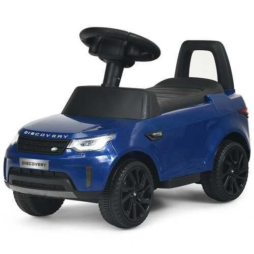 2-in-1 6V Land Rover Licensed Kids Ride On Car-Blue - Color: Blue