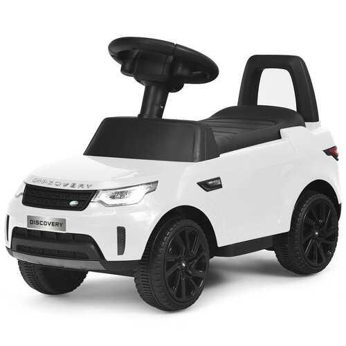 2-in-1 6V Land Rover Licensed Kids Ride On Car-White - Color: White