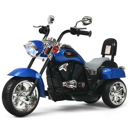 6V 3 Wheel Kids Motorcycle-Blue - Color: Blue