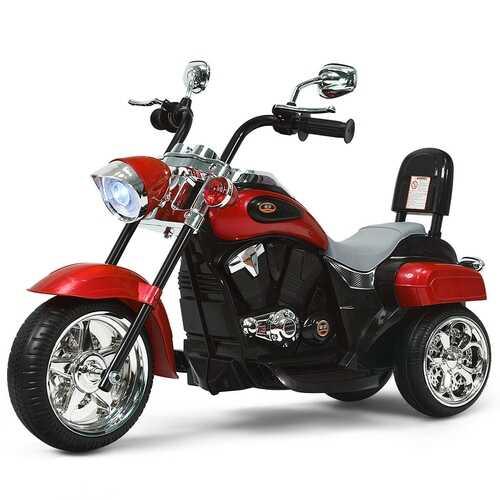 6V 3 Wheel Kids Motorcycle-Red - Color: Red