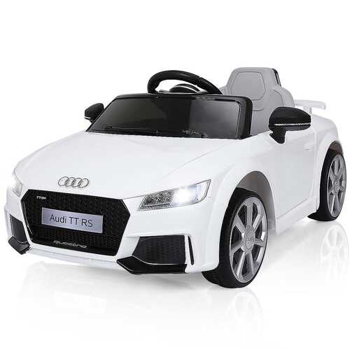 12V Audi TT RS Electric Remote Control MP3 Kids Riding Car-White - Color: White