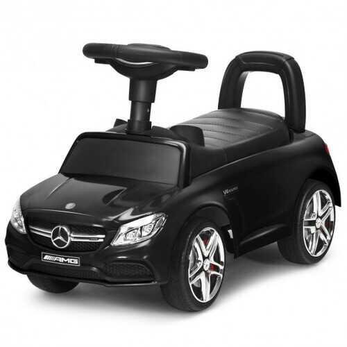 Mercedes Benz Licensed Kids Ride On Push Car-Black - Color: Black