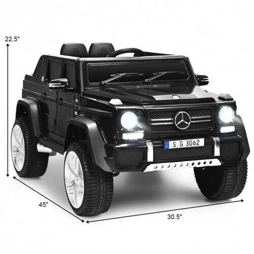 12V Licensed Mercedes-Benz Kids Ride On Car-Black - Color: Black