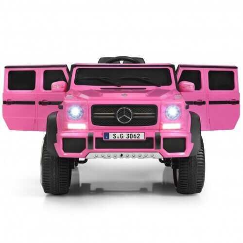 12V Licensed Mercedes-Benz Kids Ride On Car-Pink - Color: Pink