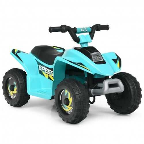 6V Kids Electric ATV 4 Wheels Ride-On Toy -Blue - Color: Blue