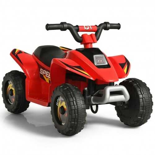 6V Kids Electric ATV 4 Wheels Ride-On Toy -Red - Color: Red