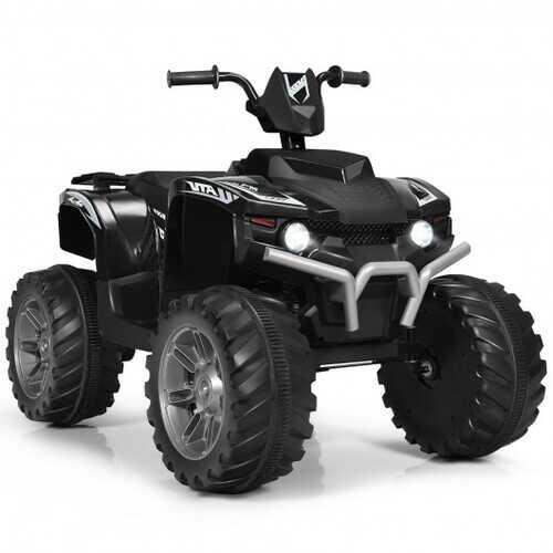 12V Kids 4-Wheeler ATV Quad Ride On Car -Black - Color: Black