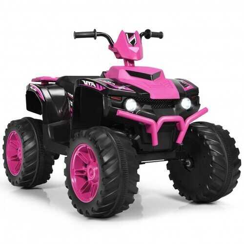 12V Kids 4-Wheeler ATV Quad Ride On Car -Pink - Color: Pink