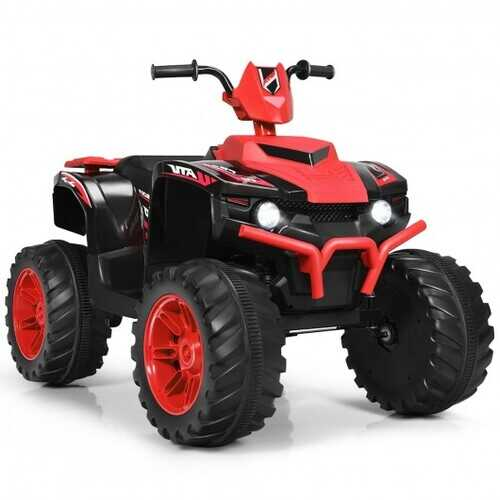 12V Kids 4-Wheeler ATV Quad Ride On Car -Red - Color: Red