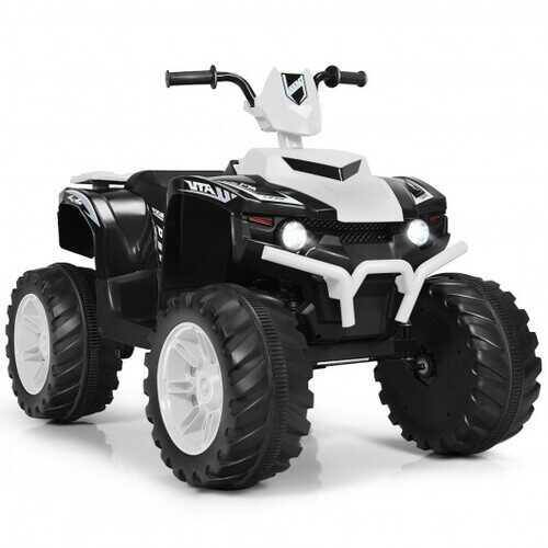 12V Kids 4-Wheeler ATV Quad Ride On Car -White - Color: White