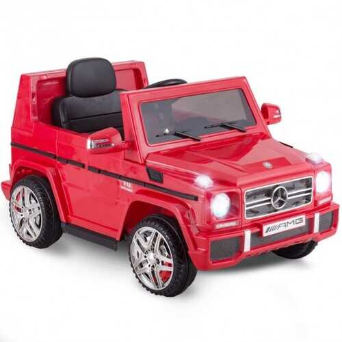 Mercedes Benz G65 Licensed Remote Control Kids Riding Car-Red - Color: Red