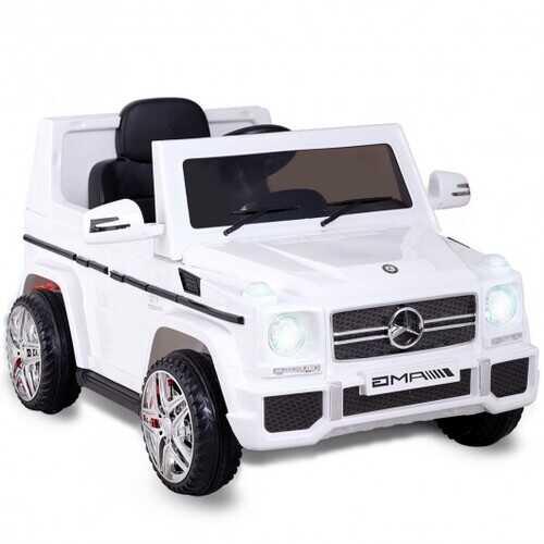 Mercedes Benz G65 Licensed Remote Control Kids Riding Car-White - Color: White
