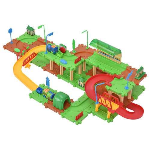 71 pcs Railway Train Building Blocks Brick Toy