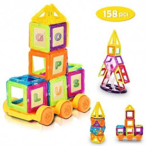 158 pcs Magical Magnetic Construction Building Blocks