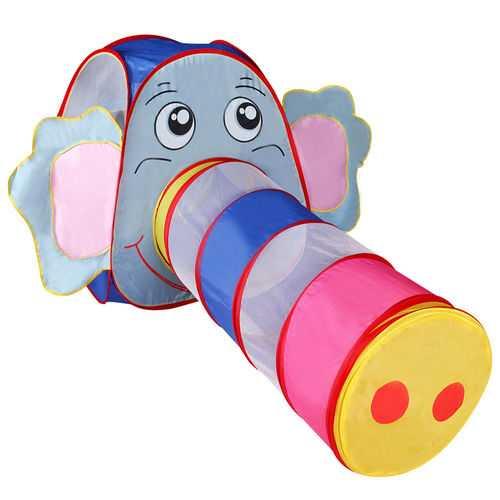 Foldable Elephant Tunnel Kids Play Tent