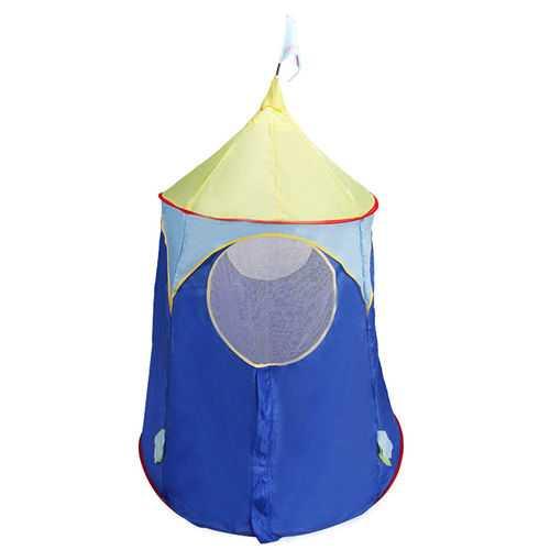 Blue Foldable Castle Kids Play Tent