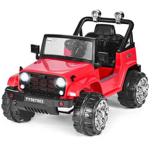 12 V Kids Music Remote Control Ride on Jeep Car with LED Lights