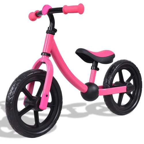 "12"" Classic Kids No-Pedal Learn Bike w/ Adjustable Seat"