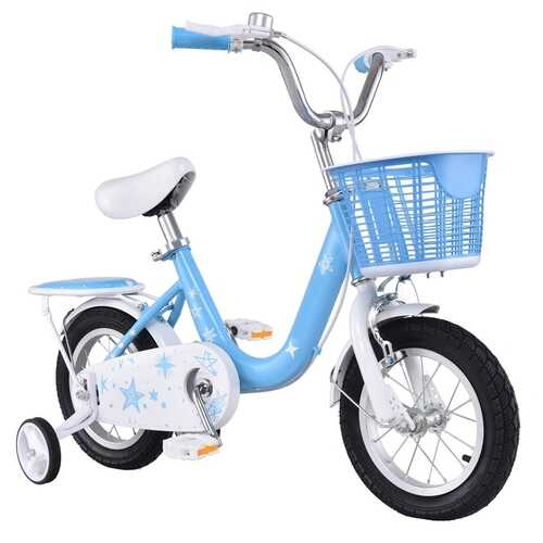 "16"" Kids Bike Bicycle with Training Wheels and Basket"