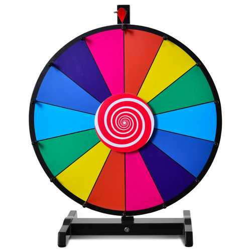 "18"" Editable 14 Slot Fortune Spinning Game Tabletop"