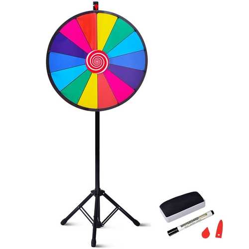 "24"" Editable Dry Erase Extension Base Fortune Spinning Game"