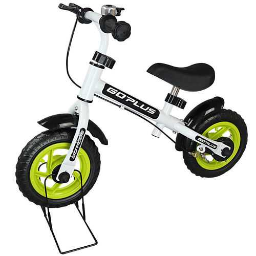 "10"" No-Pedal Adjustable Seat Bike Stand Kids Balance Bike"