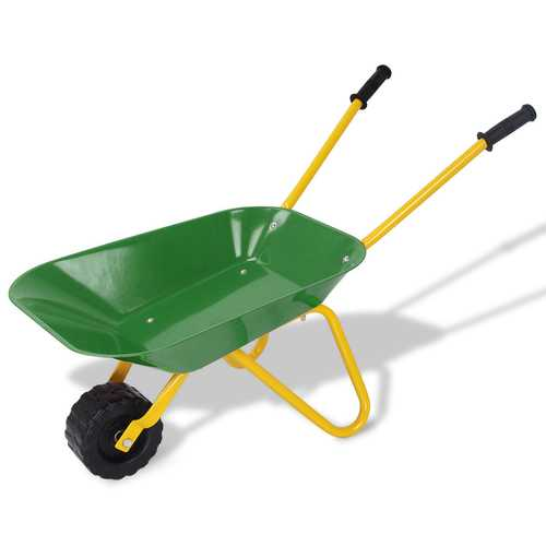 Outdoor Garden Backyard Play Toy Kids Metal Wheelbarrow