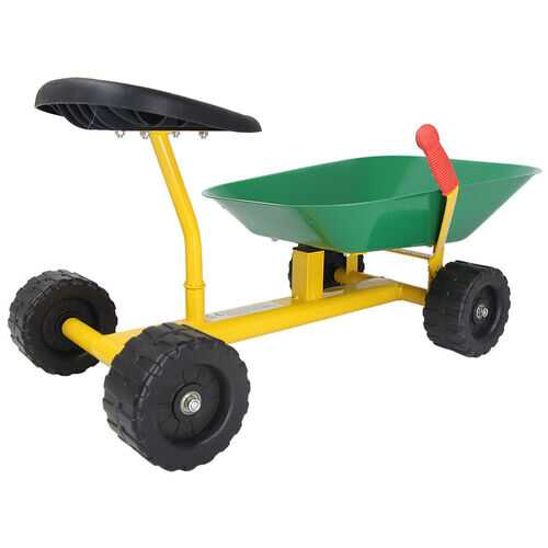 "8"" Heavy Duty Kids Ride-on Sand Dumper w/ 4 Wheels-Green"