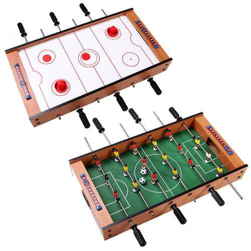 2-in-1 Indoor/Outdoor Air Hockey Foosball Game Table