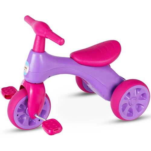 2 in 1 Toddler Tricycle Balance Bike Scooter Kids Riding Toys w/ Sound & Storage-Pink - Color: Pink