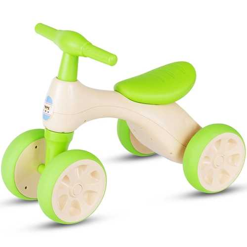 4-Wheel Baby Balance Bike with Sound and Storage Box