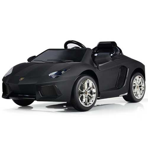 Lamborghini 12 V Licensed Electric Kids Riding Car - Color: Black