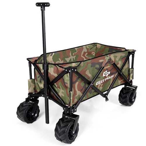 Collapsible Outdoor Utility Garden Trolley Folding Wagon
