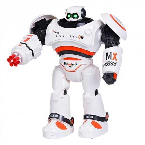 Remote Control Programmable Intelligent Combat Fighting Robot -Orange - Color: Orange