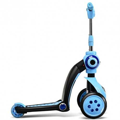 2-in-1 Kick Scooter Balance Trike With 3 Wheel -Blue