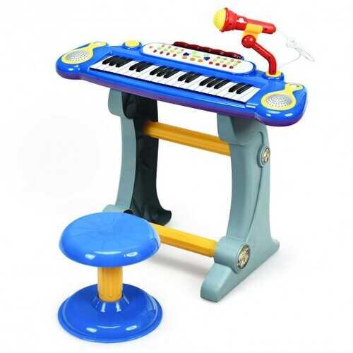 37 Key Electronic Keyboard Kids Toy Piano-Blue