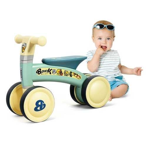 4 Wheels Toddler Balance Bike No Pedal