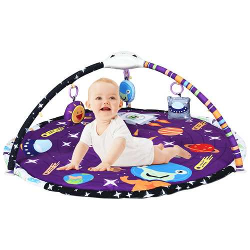 Baby Gym Educational Play Mat with Hanging Toys