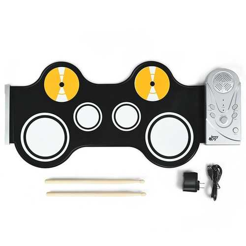 Portable Electronic Drum Set with Built in Loud Speakers