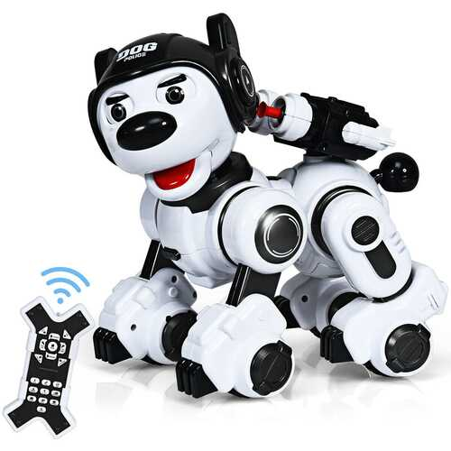 Wireless Programmable Interactive Remote Control Robotic Dog-Black