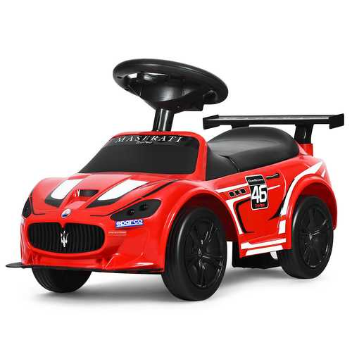 Kids Toy Maserati Ride On Push Car Gliding Scooter - Color: Red