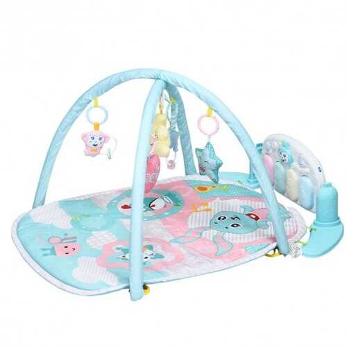 Newborn Infant Play Gym Mat w/ Play Piano Toys