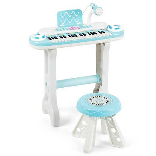 37-key Kids Electronic Piano Keyboard Playset-Blue