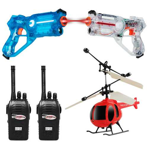Infrared Laser Tag Guns Game with 2 Walkie Talkies & Helicopter