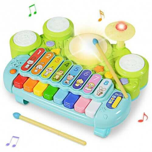 3-in-1 Electronic Piano Xylophone Game Drum Set Musical Toys