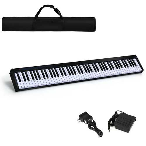 88 Key Digital Piano MIDI Keyboard w/ Pedal & Bag