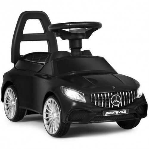 Licensed Mercedes Benz Kids Ride On Push Car-Black - Color: Black