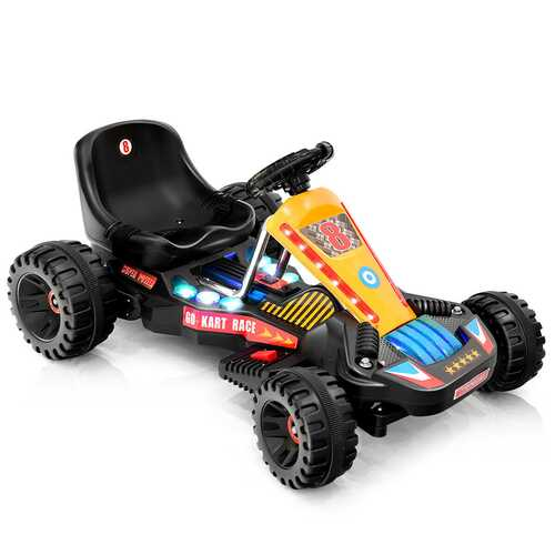 4 Wheels Electric Powered Go Kart Kids Ride on Car-Black