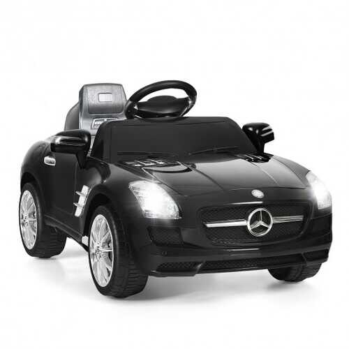 New Red Mercedes Benz sls r/c Mp3 Kids Ride on Car Electric Battery Toy-black - Color: Black