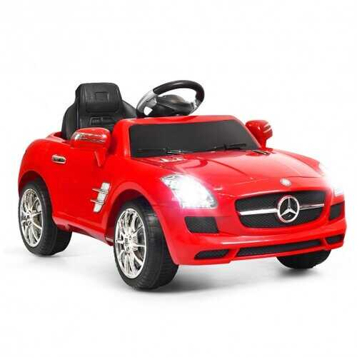 New Red Mercedes Benz sls r/c Mp3 Kids Ride on Car Electric Battery Toy-Red - Color: Red